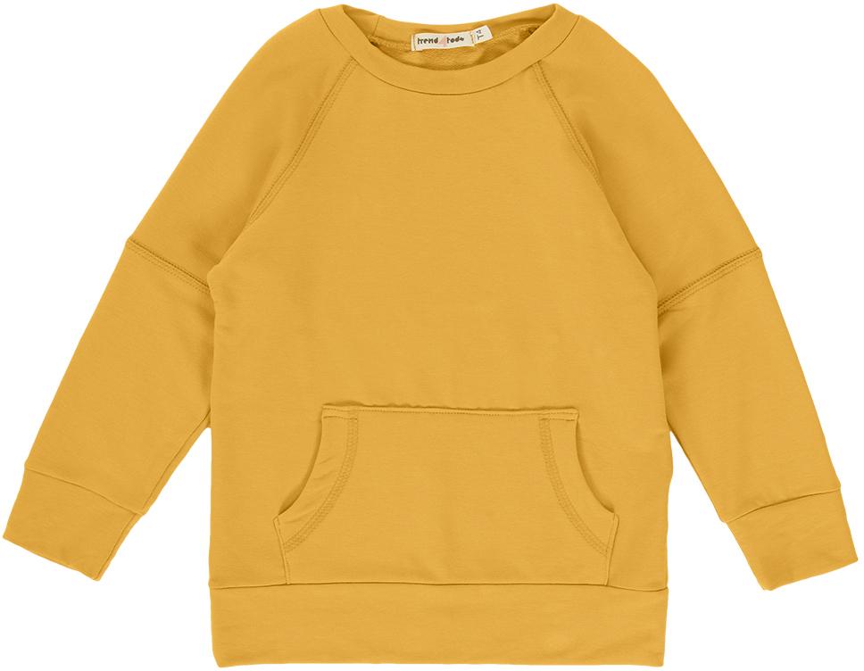Casaco moletom infantil amarelo manga