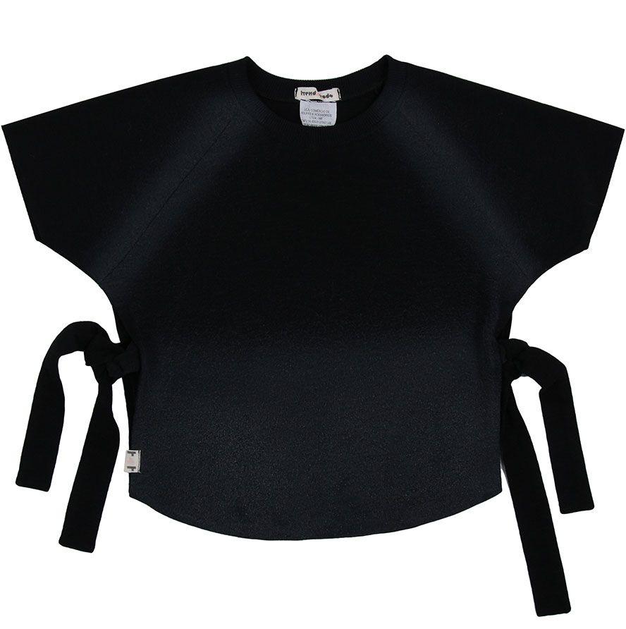 Blusa laço preta tiedie