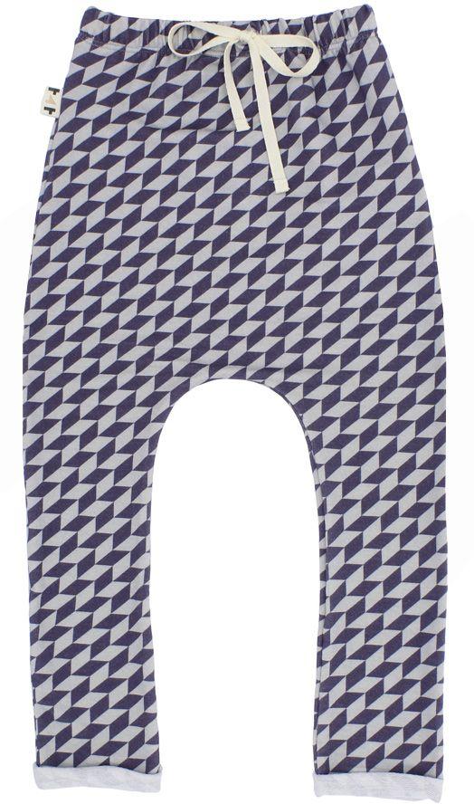 Calça Saruel Infantil Azul Geometrico