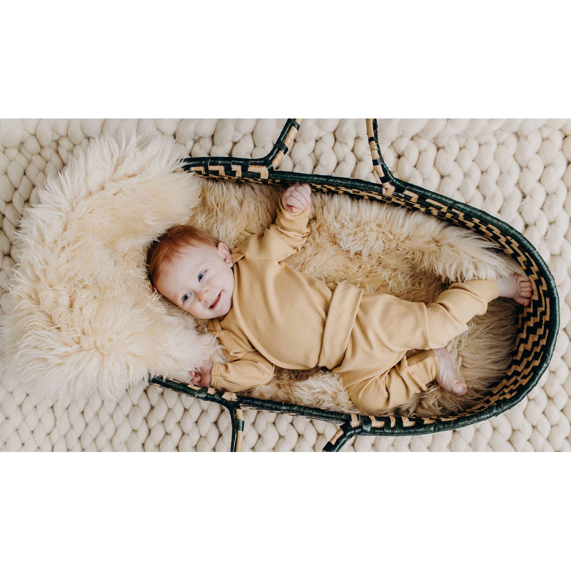 Eco mostarda Calça Bebê
