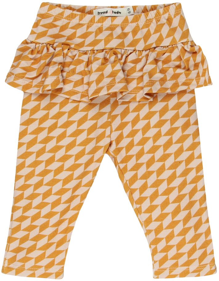 Geometrica calça legging babados