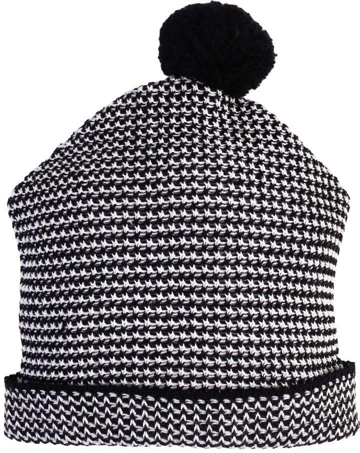 Gorro tricot zigzag