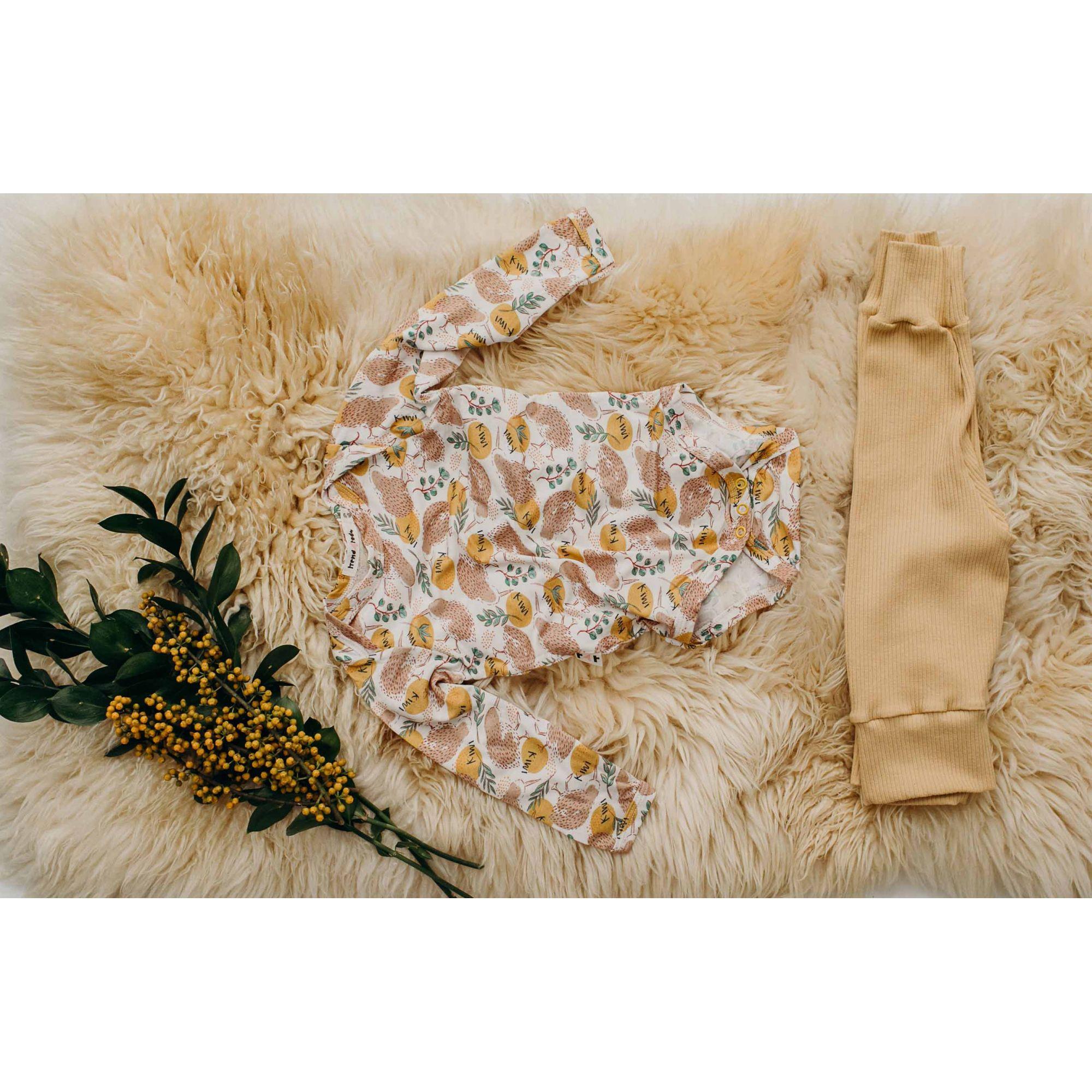 Body bebê manga longa Kiwi micromodal