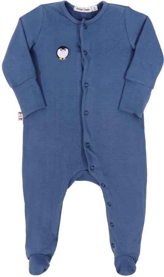 Macacão Bebê Pezinho azul
