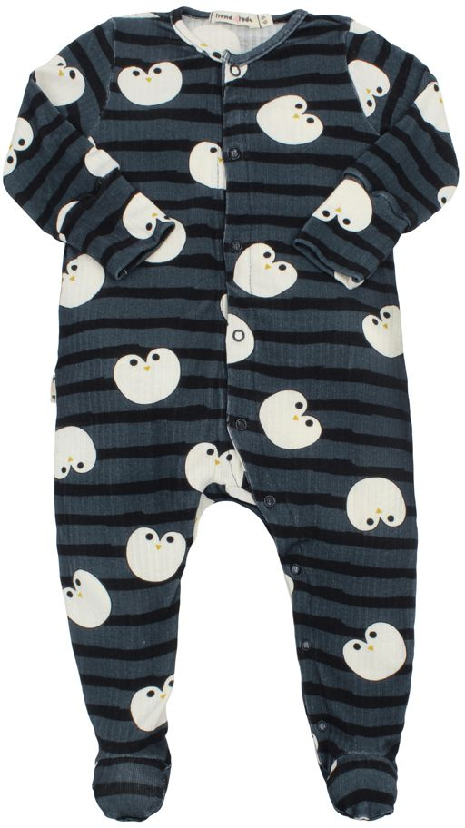 Macacão Bebê Pezinho Pinguim