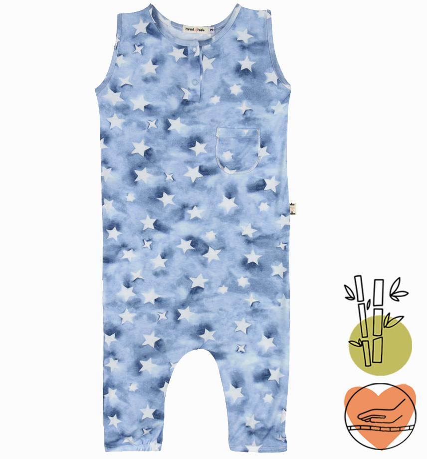 Macacão infantil Regata Estrelas