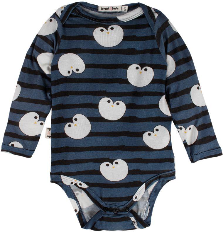 Pinguim body bebê manga longa micromodal