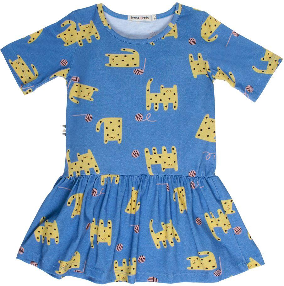 Vestido infantil Gato