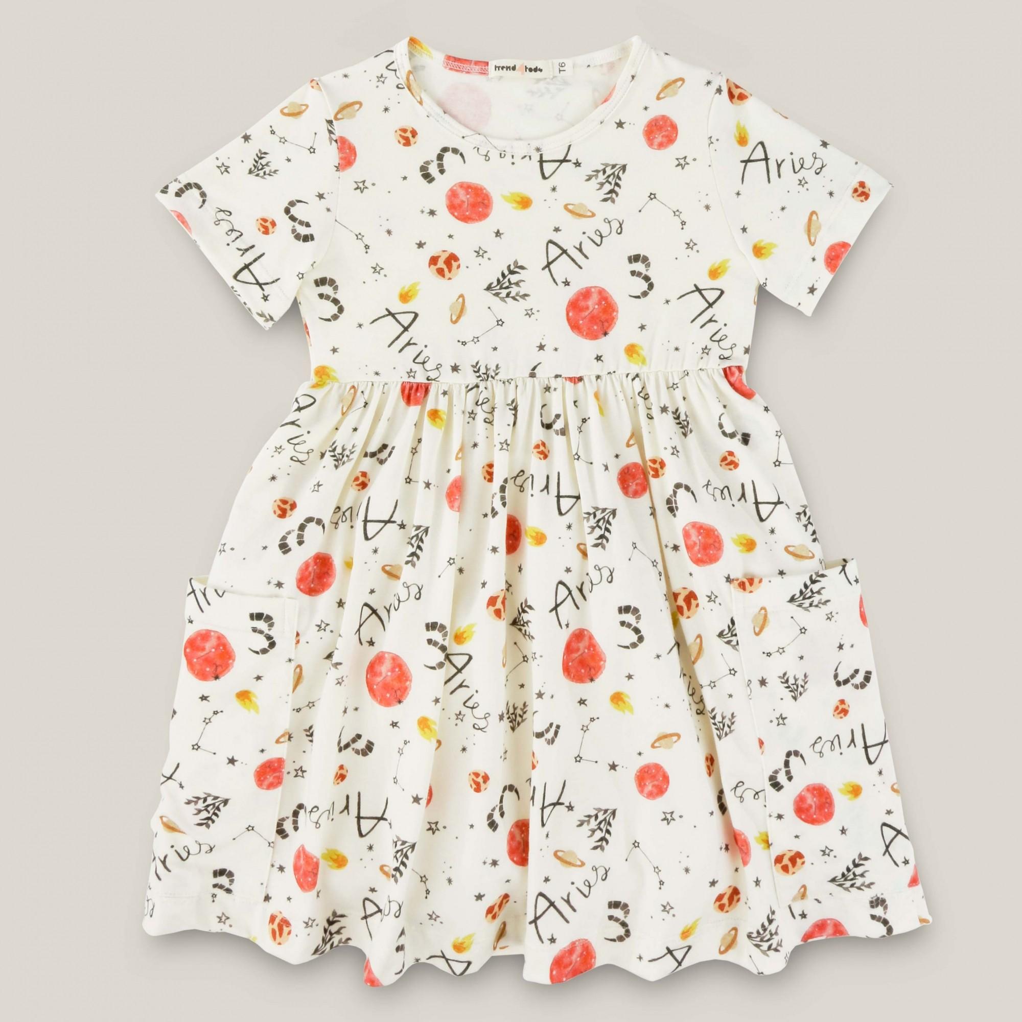 Vestido infantil signo Áries
