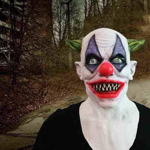ce9d821e725fe Máscara Palhaço Joker Coringa Boca Vampiro Sorriso Infernal - DANGOS
