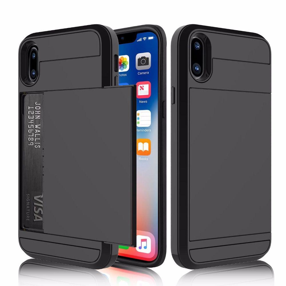 6b44154eab2 Capa Case Iphone X Apple Dinheiro Cartão Anti Impacto Queda - DANGOS