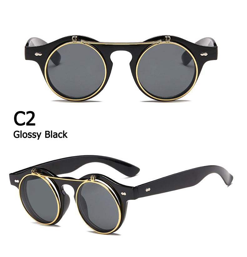 96084eb2d Óculos De Sol Vintage Retrô Redondo Unissex Oval Metal - DANGOS