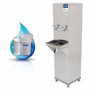 Bebedouro de Água Industrial 25 Litros de Coluna Knox Bebedouros + Filtro