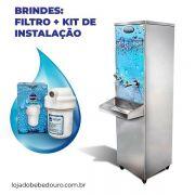 Bebedouro Industrial 20 Litros de Coluna Frisbel Bebedouros + Kit Instalação e Filtro