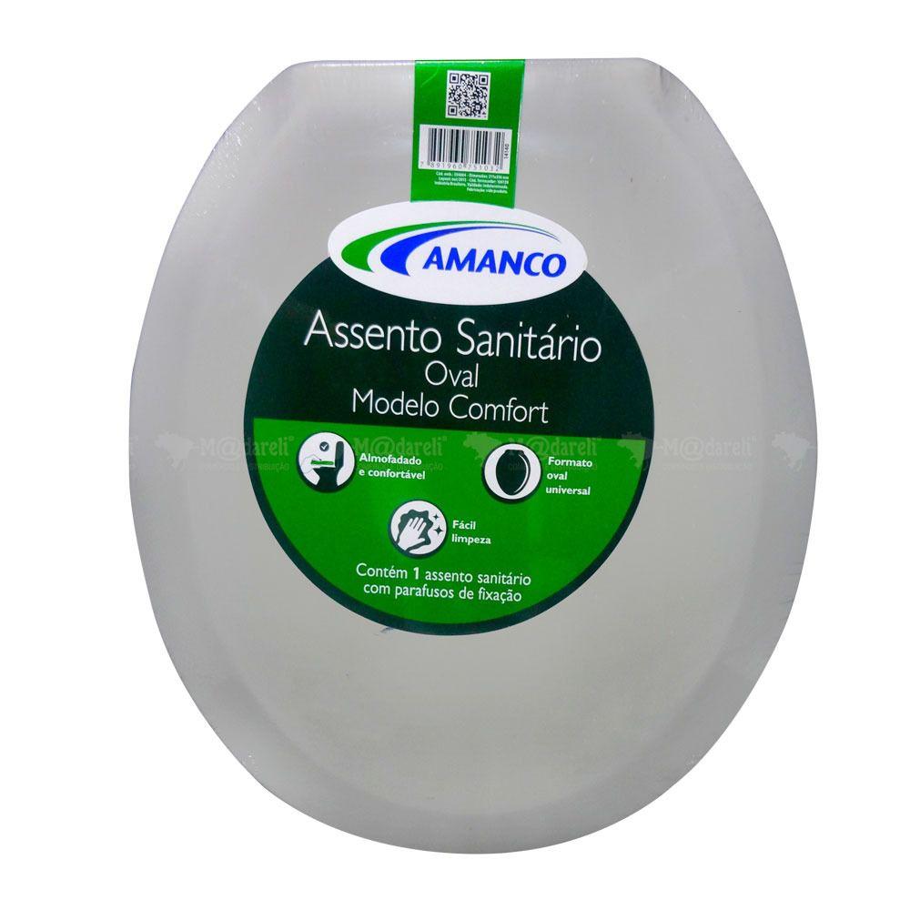 Assento Sanitário Almofadado Amanco Macio Branco - Promoção