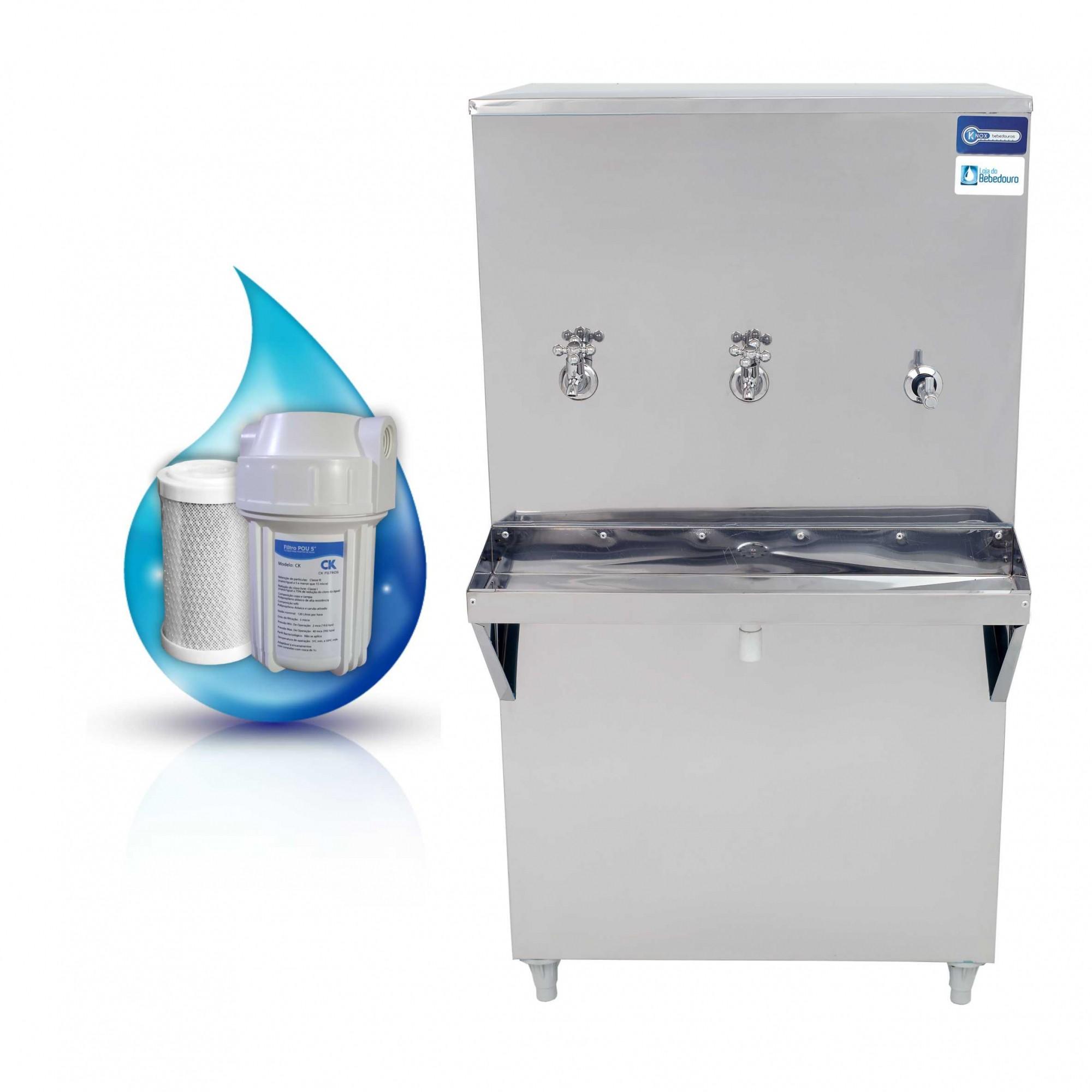 Bebedouro de Água Industrial 100 Litros Knox Bebedouros + Filtro