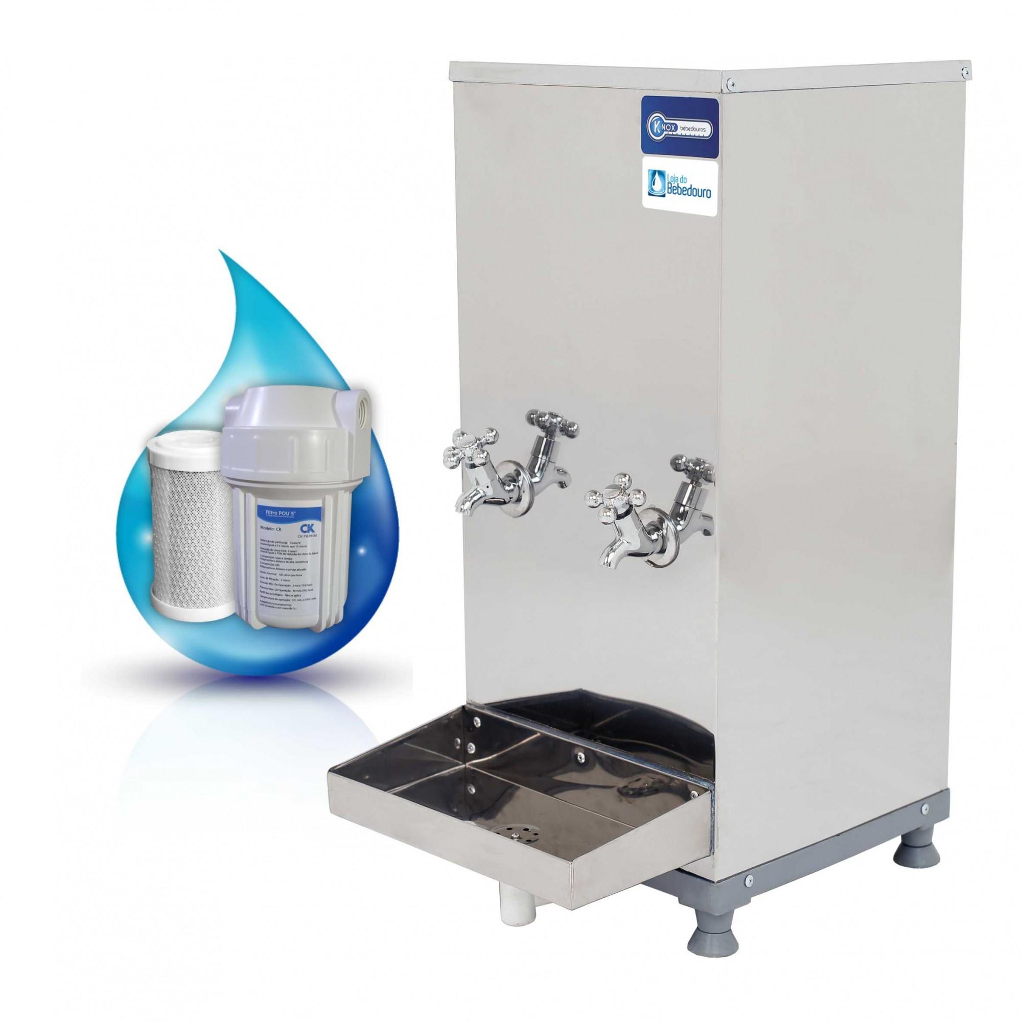 Bebedouro de Água Industrial Bancada 25 Litros Knox Bebedouros + Filtro