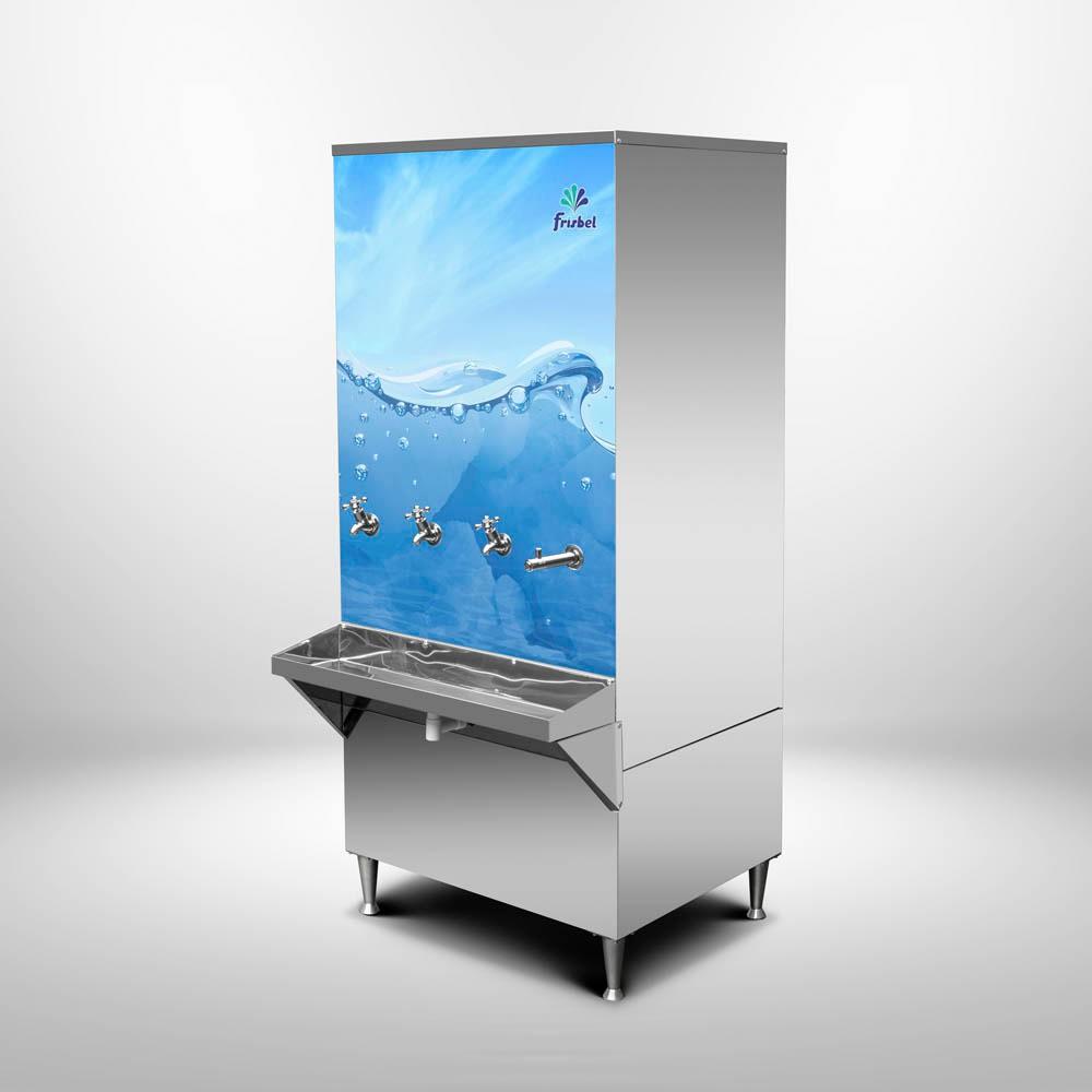 Bebedouro de Água Industrial Coluna 200 Litros Frisbel Bebedouros + Kit Instalação e Filtro