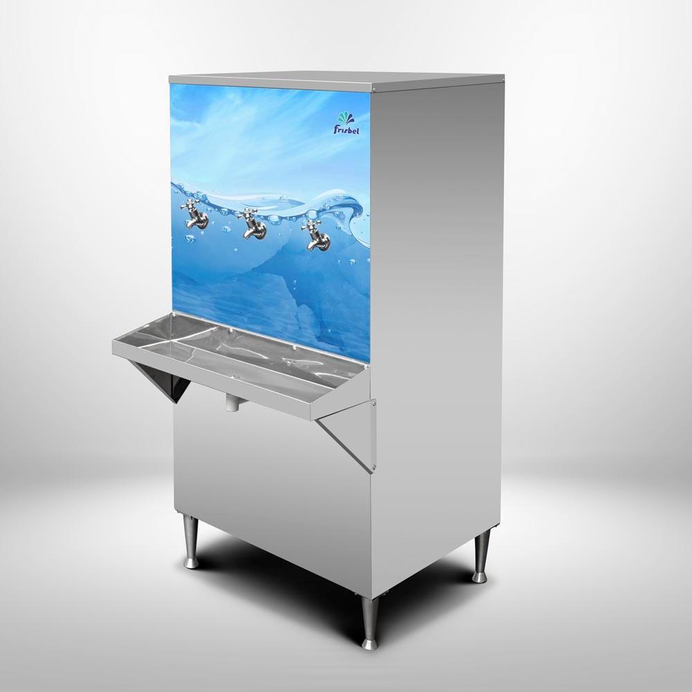 Bebedouro Industrial 100 Litros de Coluna Frisbel Bebedouros + Kit Instalação e Filtro