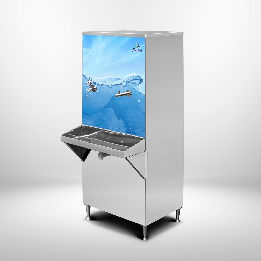 Refrigerador Bebedouro + Filtro Purificador Industrial 50 Litros de Coluna Frisbel Bebedouros