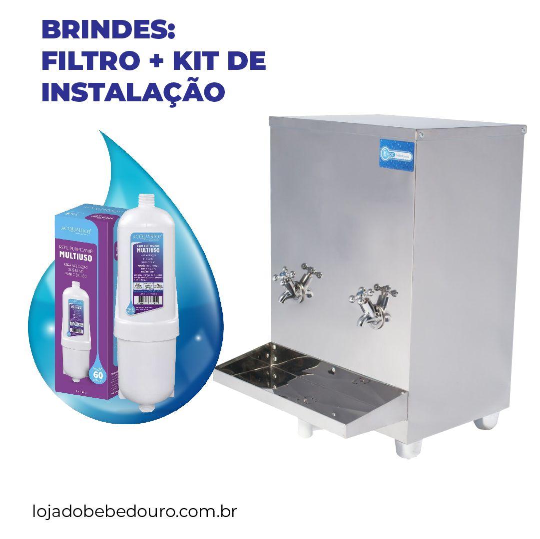 Bebedouro Industrial Bancada 20 Litros Knox Bebedouros + Kit Instalação e Filtro