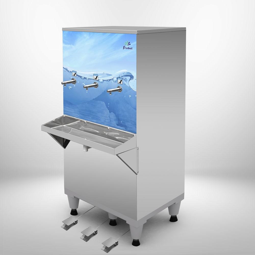 Bebedouro Pedal 100 Litros Industrial Frisbel Bebedouros + Kit Instalação e Filtro