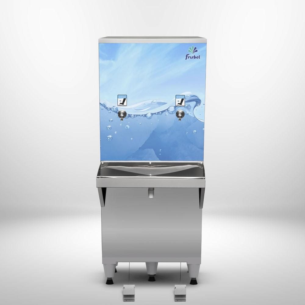 Bebedouro Pedal 50 Litros Industrial Frisbel Bebedouros + Kit Instalação e Filtro