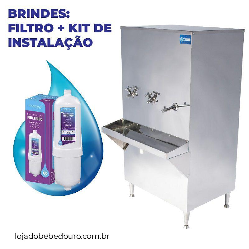 Bebedouro Industrial 100 Litros Knox Bebedouros + Kit Instalação e Filtro