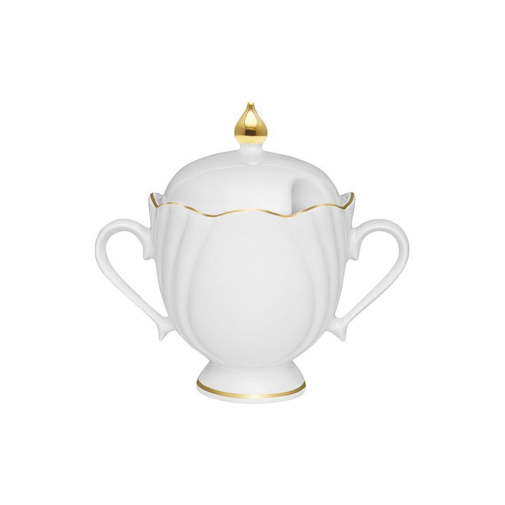 Jogo Com 2 Açucareiros 200ml Porcelana Soleil Victória Ouro Oxford