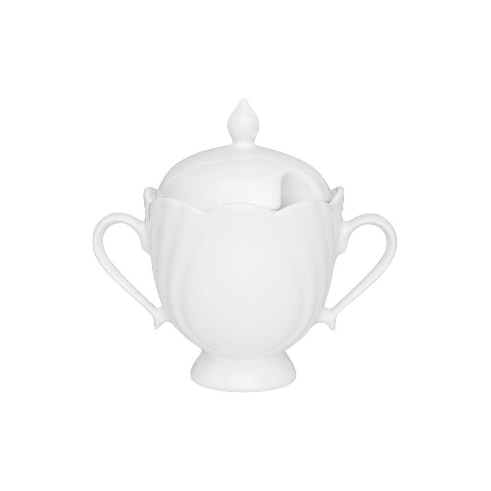 Jogo Com 2 Açucareiros 200ml Porcelana Soleil White Oxford