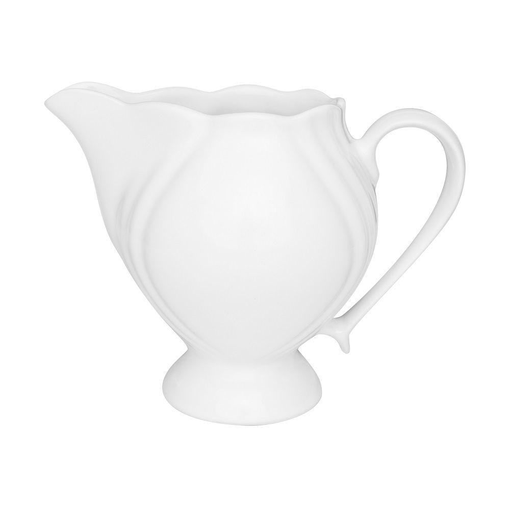 Jogo Com 2 Leiteiras 750ml Porcelana Soleil White Oxford