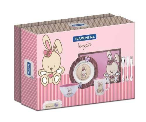Kit Infantil Tramontina Rosa 7 Peças - 64250/695