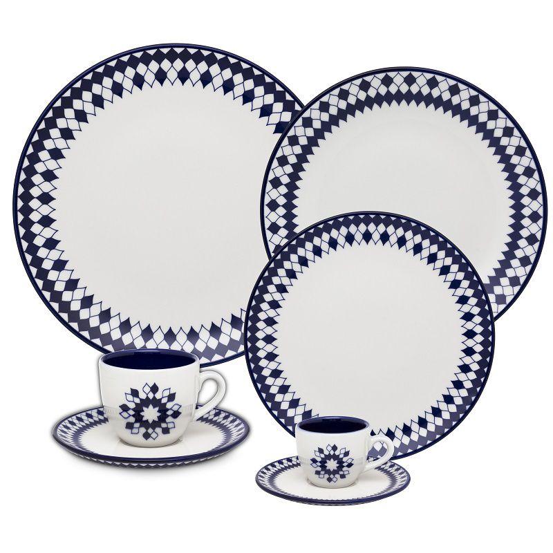 Aparelho de Jantar Chá e Café 42 Pçs Porcelana Chess Oxford