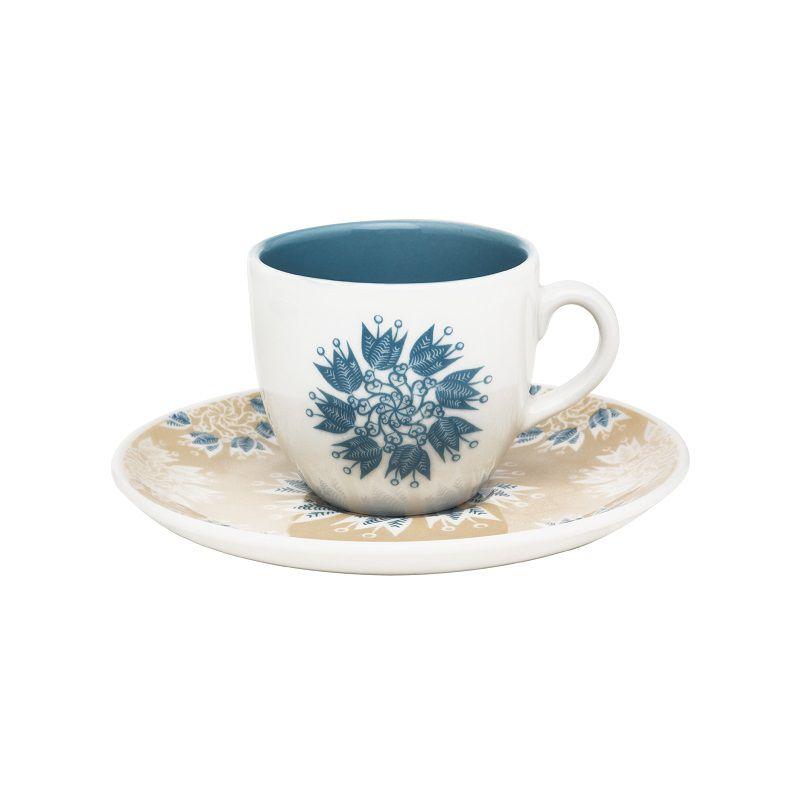 Aparelho de Jantar Chá e Café 42 Pçs Porcelana Coup Etnia Oxford