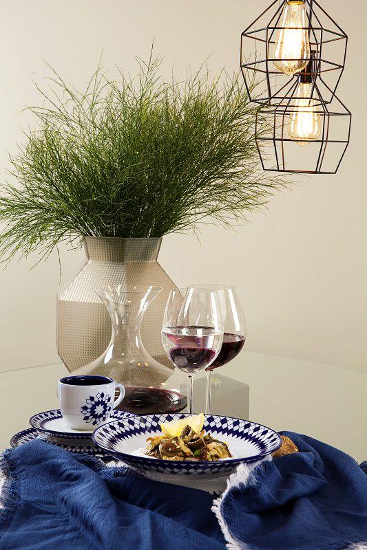 Aparelho de Jantar e Chá 20 Peças Porcelana Chess Oxford