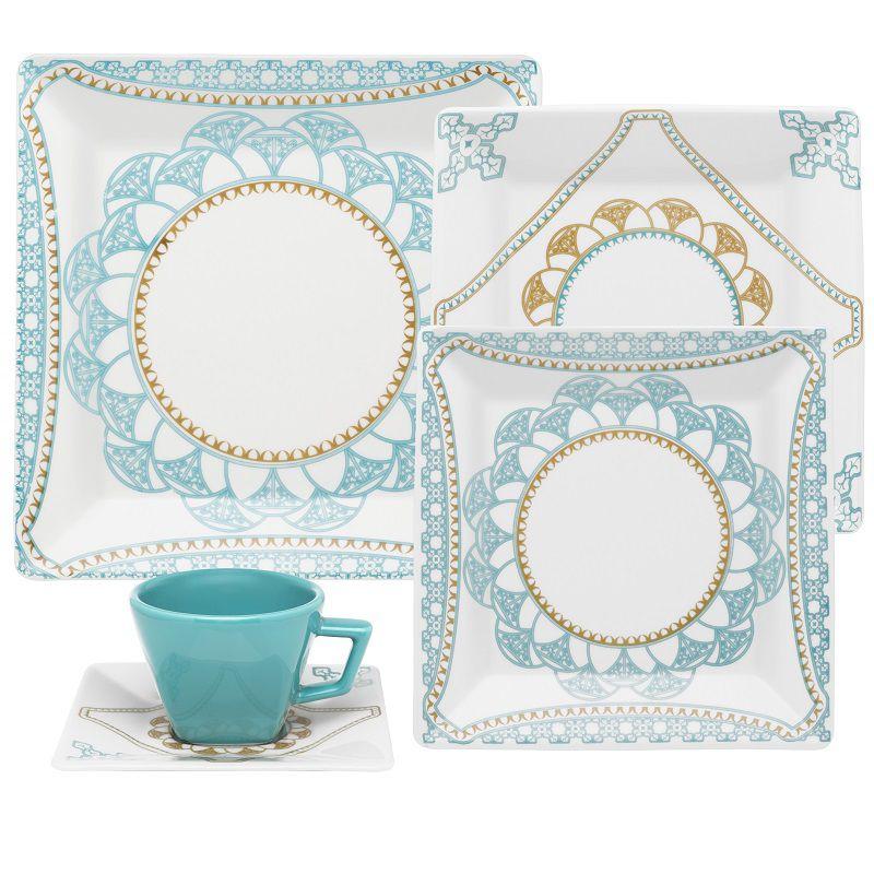 Aparelho de Jantar e Chá 20 Peças Porcelana Quartier Domo Oxford