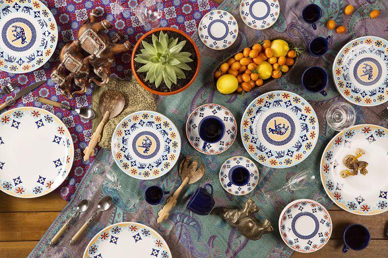 Aparelho de Jantar e Chá 20 Peças Porcelana Coup Shanti Oxford
