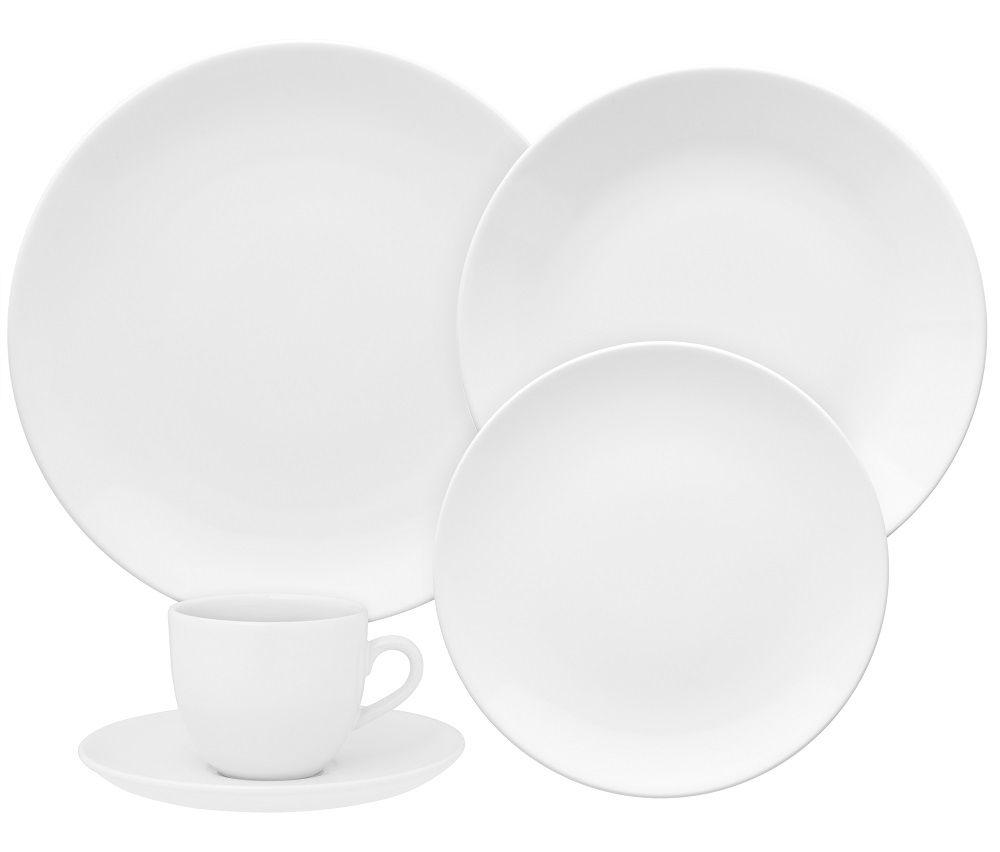 Aparelho de Jantar e Chá 20 Peças Porcelana Coup White Oxford