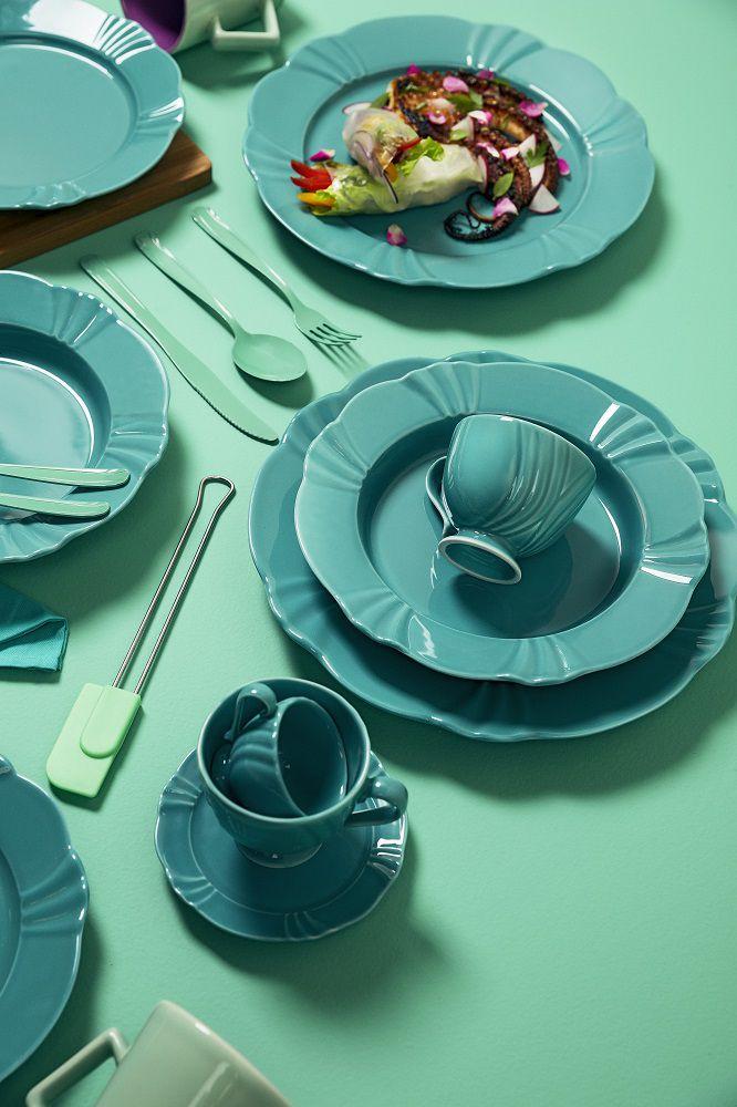 Aparelho de Jantar e Chá 30 Peças Porcelana Soleil Dreams Oxford
