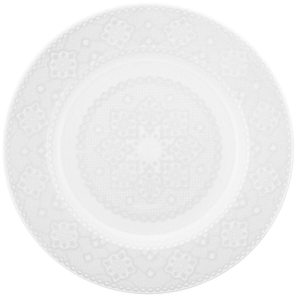 Aparelho de Jantar e Chá 30 Peças Porcelana Dress Oxford
