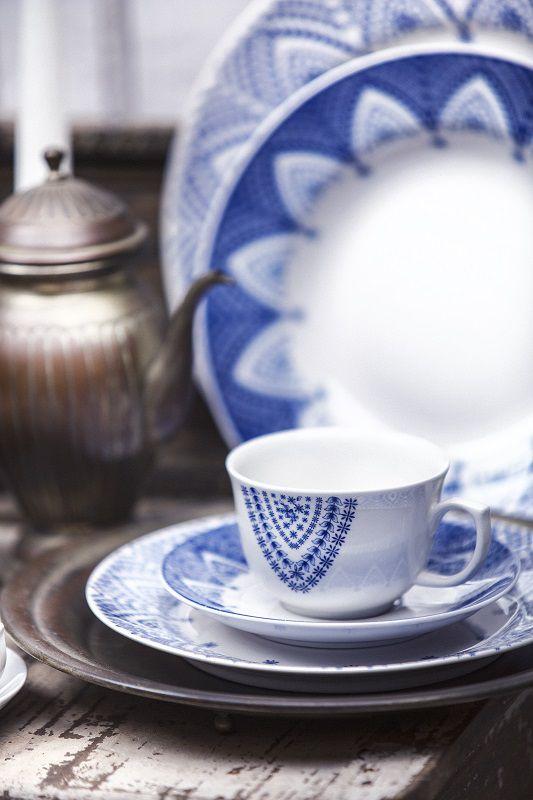 Aparelho de Jantar e Chá 30 Peças Porcelana Milano Oxford