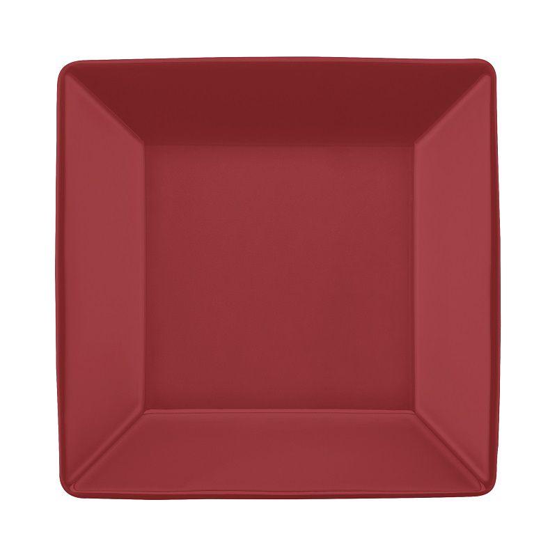 Aparelho de Jantar e Chá 30 Peças Porcelana Quartier Red Oxford