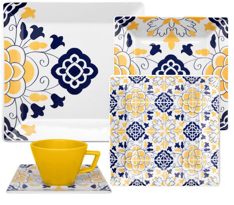 Aparelho de Jantar e Chá 30 Peças Porcelana Quartier Sevilha Oxford