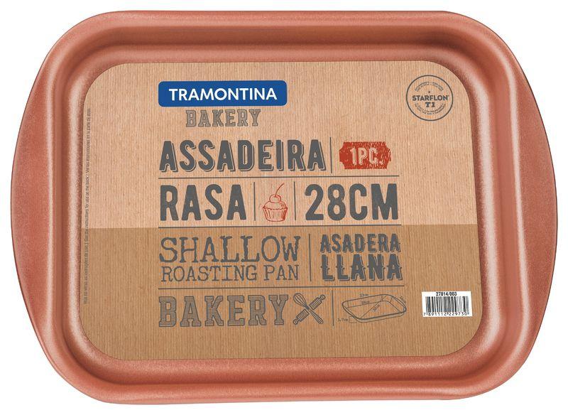 Assadeira Grafite Rasa Antiaderente Starflon T1 28cm 1,9L Tramontina - 27814/003