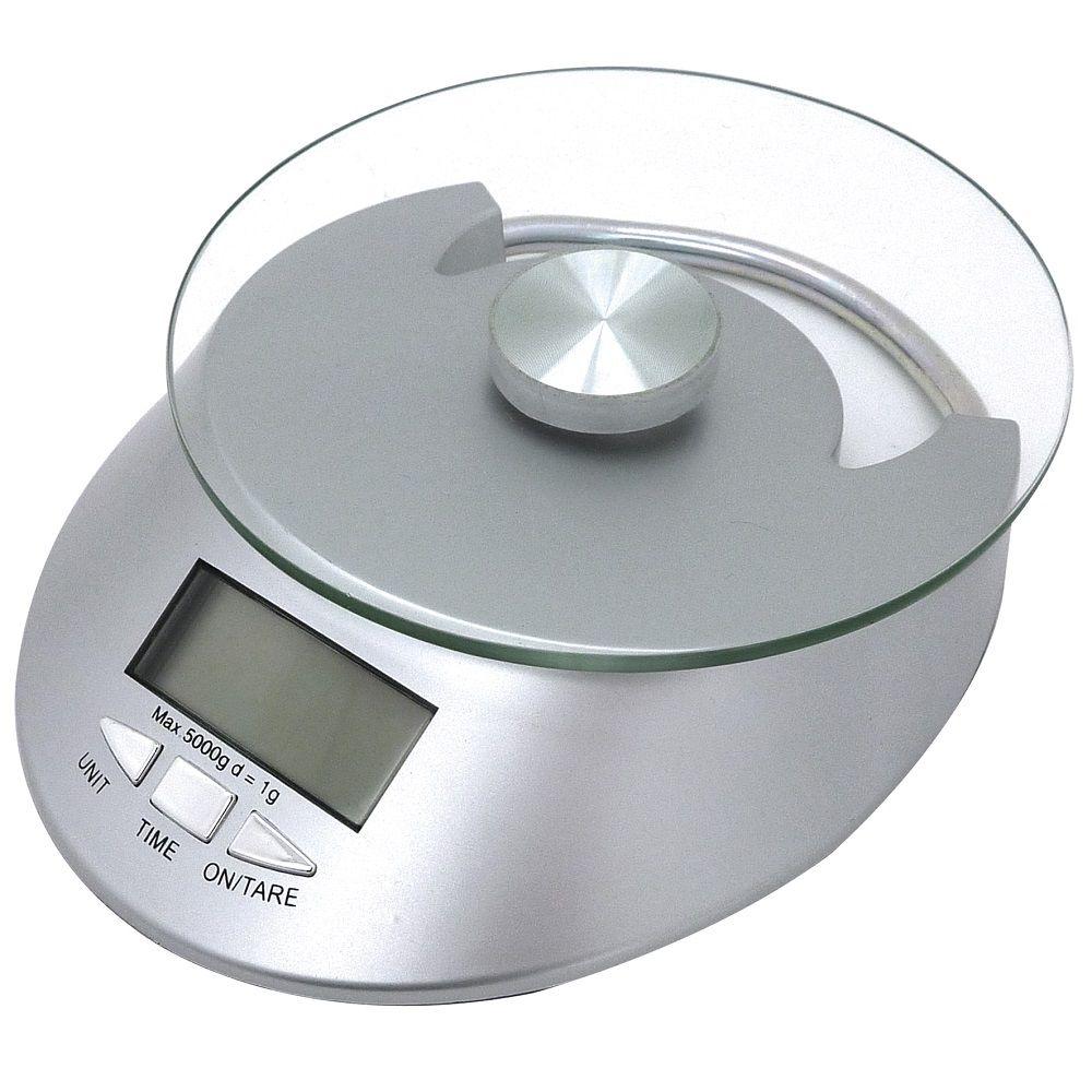 Balança Digital de Vidro Para Cozinha Capacidade 5Kg