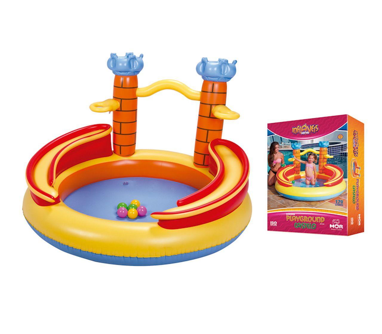 Piscina Banheira Inflável Playground Castelo MOR 001920