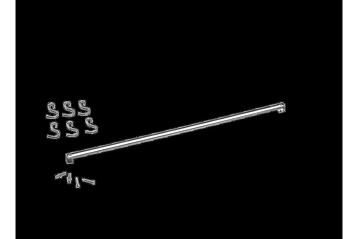 Barra Aço Inox com 6 Ganchos 60cm Top Pratic Brinox - 2200/160