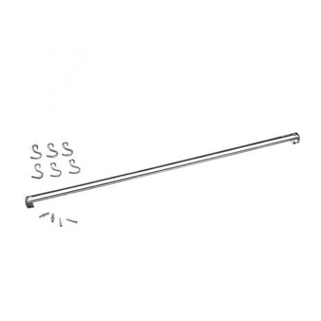 Barra Aço Inox Com 6 Ganchos 80cm Top Pratic Brinox - 2200/180