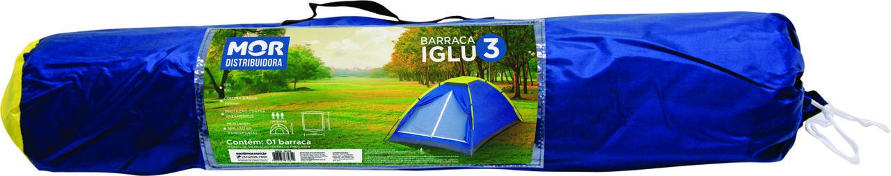 Barraca Iglu Para 3 Pessoas Azul - MOR