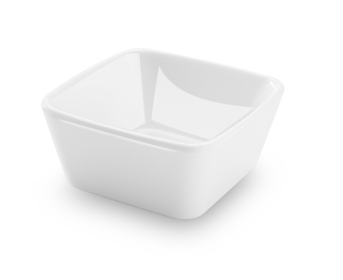 Bowl Quadrado Finger Food Branco 90Ml Melamina Haus 50801/002
